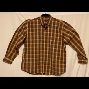 ALAN FLUSSER Mens XL Long Sleeve Button Up Shirt
